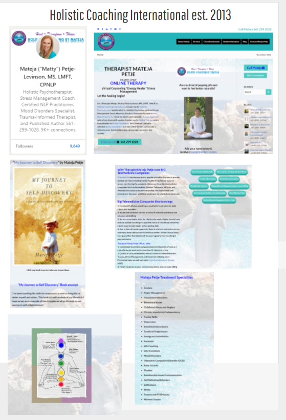 Holistic Coaching International Website Launch Therapy Timeline
